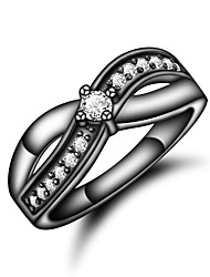 4aa74c86c80e Mujer Claro Zirconia Cúbica Clásico Anillo Chapado en oro 18K Diamante  Sintético Mariposa Elegante Lujo Romántico Moda Anillos de Moda Joyas Oro    Negro ...