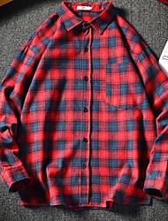 billiga -herrtröja från eu / us-storlek - plädskjorta