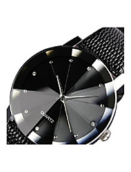 cheap -Couple's Dress Watch Quartz Leather Black Casual Watch Analog Casual Fashion - Black One Year Battery Life / Stainless Steel