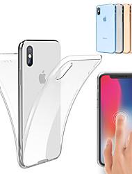 Недорогие -Кейс для Назначение Apple iPhone 11 / iPhone 11 Pro / iPhone 11 Pro Max Защита от удара / Ультратонкий / Прозрачный Чехол Однотонный Мягкий ТПУ
