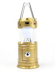 Недорогие -Открытый светодиодные солнечные аккумуляторные складной свет новинка фонарик факел водонепроницаемый фонарь для кемпинга походы