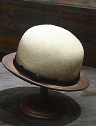 ราคาถูก -ขนสัตว์ หมวก กับ ขอบ 3 ชิ้น สวมใส่ทุกวัน หูฟัง