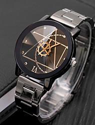 Недорогие -Муж. Нарядные часы Кварцевый Нержавеющая сталь Черный Повседневные часы Cool Аналоговый На каждый день Мода - Белый Черный Один год Срок службы батареи