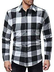 お買い得  -メンズシャツ - グラフィックシャツカラー