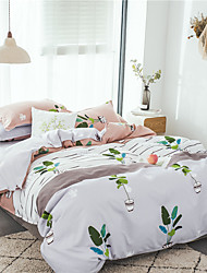 رخيصةأون -مجموعات حاف الغطاء ورد / استايل صيني / عصري بولي / قطن مطبوع 4 قطعاتBedding Sets
