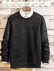 abordables -Tee-shirt Homme, Couleur Pleine Col de Chemise