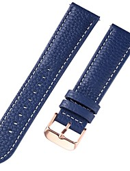 cheap -Genuine Leather / Leather / Calf Hair Watch Band Strap for Blue 17cm / 6.69 Inches / 18cm / 7 Inches / 19cm / 7.48 Inches 1cm / 0.39 Inches / 1.2cm / 0.47 Inches / 1.3cm / 0.5 Inches