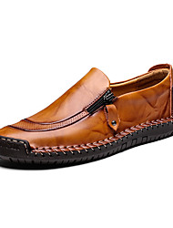cheap -Men's Formal Shoes Faux Leather Spring & Summer / Fall & Winter Loafers & Slip-Ons Black / Yellow / Red