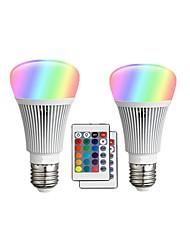 abordables -2pcs 10 W 900 lm E26 / E27 Ampoules LED Intelligentes A60(A19) 12 Perles LED LED Intégrée Intensité Réglable / Commandée à Distance / Décorative RGBW 85-265 V