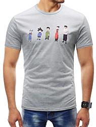 זול -גיאומטרי טישרט - בגדי ריקוד גברים דפוס