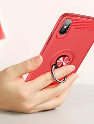 Недорогие -Кейс для Назначение Apple iPhone XS / iPhone XS Max Кольца-держатели / Ультратонкий Кейс на заднюю панель Однотонный Мягкий ТПУ для iPhone XS / iPhone XR / iPhone XS Max