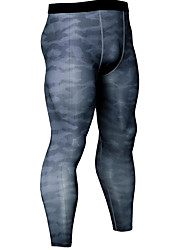 Недорогие -Велоспорт Колготки Нижняя часть Сжимающие штаны Муж. На открытом воздухе Велосипедный спорт / Велоспорт Велоспорт Легкость Быстровысыхающий Пригодно для носки Тёмно-синий Вино Со стразами