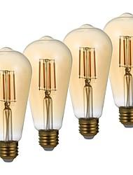 abordables -4pack- gmy st21 led edison ampoule 3.5w 300lm led équivalent à une ampoule à incandescence 28w avec e26 base 2200k blanc chaud pour chambre salon home café décoratif
