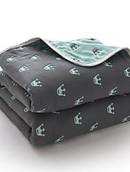 baratos -Confortável - 1 Cobertura de Cama / 1 Colcha Primavera / Verão Algodão Estampa Colorida / Desenho Animado / Letra