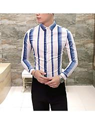 economico -camicia da uomo slim - colletto classico a righe