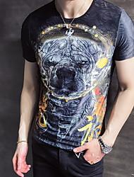 abordables -Tee-shirt Homme, Animal Col Arrondi