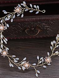 ราคาถูก -โลหะผสม Head Chain กับ ดอกไม้ 1 ชิ้น งานแต่งงาน หูฟัง