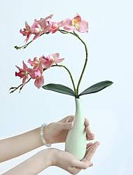 halpa -Keinotekoinen Flowers 1 haara Klassinen Pastoraali Tyyli Phalaenopsis Pöytäkukka