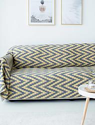abordables -El amortiguador del sofá A Rayas / Plantas / Contemporáneo Jacquard 100% Algodón Fundas