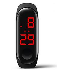 Недорогие -Муж. электронные часы Цифровой силиконовый Белый / Синий / Красный 30 m Защита от влаги Творчество Цифровой Мода Цветной - Красный Синий Розовый