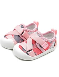 halpa -Tyttöjen Kengät Silmukka Kevät Comfort / Ensikengät Lenkkitossut varten Vauvat Musta / Harmaa / Pinkki