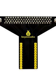 Недорогие -Keyestudio T-образный экран для микро-бит (черный и экологически чистый)