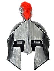 Недорогие -Гладиаторы Средневековый Эпоха возрождения Костюм Муж. Шлем шляпа Серебро + серый / Золотой + черный / Gloden + черный Винтаж Косплей Halloween Маскарад