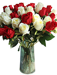 Недорогие -Искусственные Цветы 5 Филиал Классический Традиционный / классический европейский Розы Вечные цветы Букеты на стол