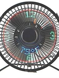 Недорогие -Brelong маленький настольный вентилятор с часами и дисплеем температуры 4-дюймовый металлический каркас с питанием от USB
