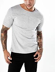 olcso -férfi póló - kerek, kerek színű nyak