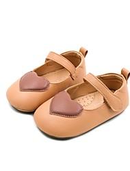 halpa -Tyttöjen Kengät Tekonahka Kevät Comfort / Ensikengät Tasapohjakengät varten Vauvat Musta / Beesi / Keltainen