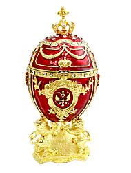 Недорогие -пасхальное яйцо Античный Украшенный драгоценностями Русский Шкатулка Коробка Брелок Назначение Подарок На каждый день Офис и карьера Пасха Жен. Бижутерия