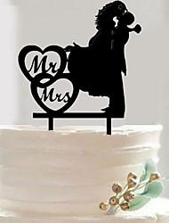 Недорогие -Украшения для торта Свадьба Романтика Другие материалы Свадьба с В виде сердца / Однотонные 1 pcs Пенополиуретан