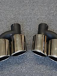 Недорогие -2pcs 55-60 mm Советы по выхлопной трубе Cool Нержавеющая сталь Глушители выхлопа Назначение Audi A4L 2017