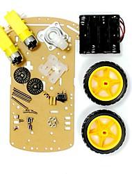 Недорогие -умный автомобиль шасси 2 колеса привод трек автомобиль умный автомобиль напольный гоночный автомобиль поделки комплект