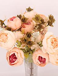 Χαμηλού Κόστους -Ψεύτικα λουλούδια 1 Κλαδί Κλασσικό Μονό Σύγχρονη Σύγχρονη Λουλούδια Γάμου Παιώνιες Λουλούδι για Τραπέζι