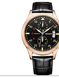Недорогие -Муж. Спортивные часы Японский Кварцевый Кожа Коричневый / Жад Защита от влаги Cool Аналого-цифровые Классика На каждый день - Коричневый Светло-Зеленый Черный / Розовое золото / Нержавеющая сталь