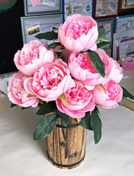 levne -Umělé květiny 1 Větev Klasické Jevištní doplňky Evropský Pivoňky Věčné květy Květina na stůl