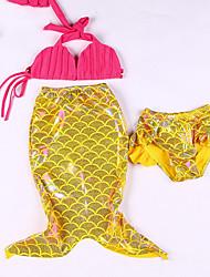זול -בגדי ים ללא שרוולים גיאומטרי בנות פעוטות