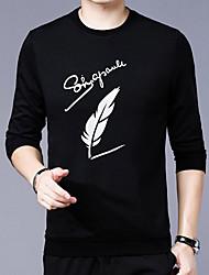halpa -Miesten Pyöreä kaula-aukko Ohut Puuvilla Geometrinen T-paita