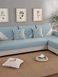 abordables -El amortiguador del sofá Contemporáneo Acolchado Algodón Fundas