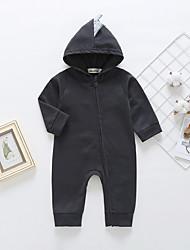preiswerte -Baby Mädchen Aktiv / Grundlegend Druck Reißverschluss Langarm Baumwolle Einzelteil Rote