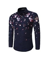 olcso -férfi ing - virágos ing gallér