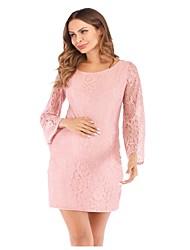 tanie -Damskie Wyrafinowany styl Elegancja Linia A Pochwa Sukienka - Solidne kolory, Odkryte plecy Wiązanie Nad kolano