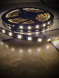 abordables -BRELONG® 5m Bandes Lumineuses LED Flexibles 300 LED SMD5025 Blanc Chaud / Blanc Découpable / Décorative / Connectible 12 V 1pc