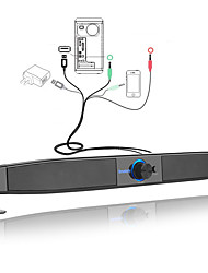 Недорогие -smalody 9010 компьютерный динамик черный портативный ноутбук сабвуфер мультимедийная звуковая панель с входом aux mic