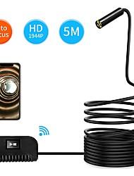 Недорогие -3,5 м 10 м с автофокусом Wi-Fi осмотр камеры ip68 водонепроницаемый эндоскоп 5 мп смос змея камера для iphone samsung andorid ios