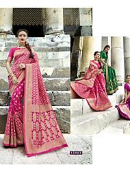 Недорогие -Индийская девушка Болливуд Взрослые Жен. азиатский Пайетки Churidar Salwar Suit Сари Назначение Выступление Шелковая ткань Длинный Платье