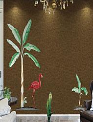 abordables -Mural / Paño de pared No tejido Revestimiento de pared - adhesiva requerida Árboles y Hojas / Art Decó / 3D