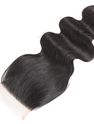 tanie -1 Pakiet Włosy brazylijskie Body wave Włosy naturalne remy Akcesoria do peruk Taśma włosów z zamknięciem 8-20 in Kolor naturalny Ludzkie włosy wyplata Koronka Tkany Nowości Ludzkich włosów